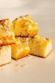 Tangerine and almond cake squares