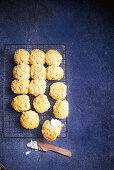 Pumpkin and green shallot scones