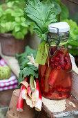 Rhubarb and raspberry vinegar