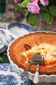 Rhubarb and cream cheese cake