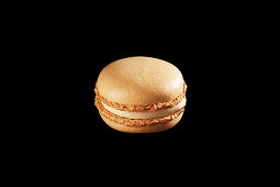 A caramel macaroon