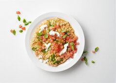 Tomato risotto with stracciatella di bufala