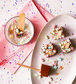 Marshmallow spoons for hot chocolate