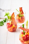 Bloody-Mary-Salat mit Speck