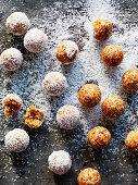 Apricot and tahini bliss balls
