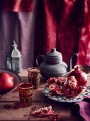 Pomegranate in oriental ambience