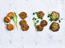 Variations of vegetable fritters