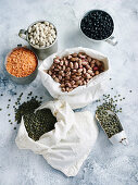 Assorted dried pulses