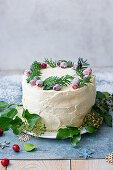 Ginger cake with mascarpone vanila icing for Christmas