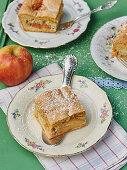Apple ginger squares