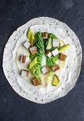 Vegan tofu-mayo wrap