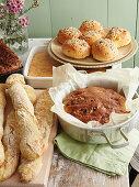 Homemade bread specialities