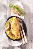 Porcini omelette