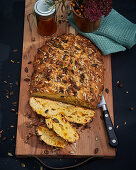 Sea buckthorn bread with seeds