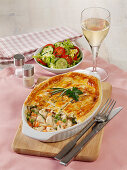 Chicken pot pie with spring vegetables