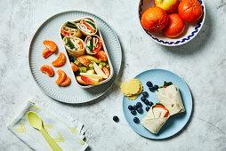 Mandarin turkey wrap