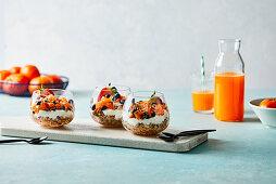 Mandarin yogurt granola parfait