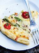 Asparagus and Tomato tart