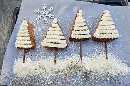 Baked cinnamon trees for Christmas