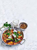 Vegetable tagine with za'atar chickpeas