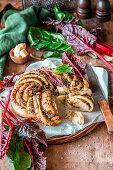 Swiss chard pesto bread