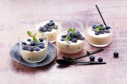 Panna mascarpone with blueberries