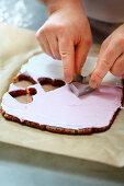 Cut out almond hearts