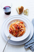Spaghettis all'amatriciana
