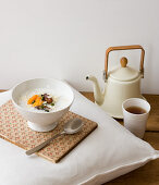 Egyptian porridge with dates and pistachios