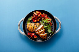 Ratatouille with grilled chicken breast