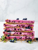 Granola and Frozen Yoghurt Bars with Blueberries