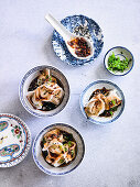 Boiled Prawn Wontons with Spicy Vinegar Soy Sauce
