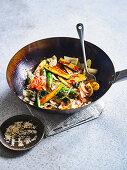 Korean Stir Fried Vegetables