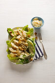 Caesar Salad - romaine lettuce with chicken, croutons and parmesan
