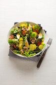 Niscois salad with tuna, potatoes, beans and egg