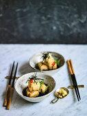 Agadashi Tofu with Chilli, Ginger and Nori