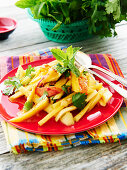 Mango salad with peppers
