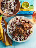 Caribbean Jerk Chicken with Rice and Kidney Beans