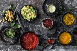 Different burger sauces