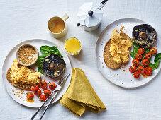 Scrambled eggs with Dukkah