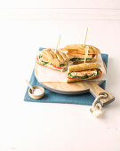 Spinach and fish cake baguettes