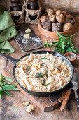 Jerusalem artichoke risotto