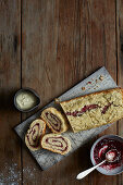 Jam Roly-Poly served with lashings of custard