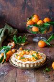Tangerine vanilla curd pie