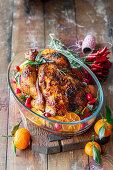 Tangerine chicken with honey and mustard