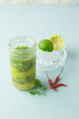 Lime and chilli dressing with coriander