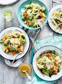 Asparagus and salmon pasta