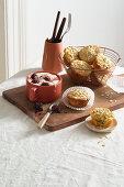 Bircher muesli muffins with carrots