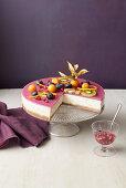 No Bake Pomegranate Cheesecake