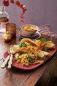 Indian lentil pancakes for vegans